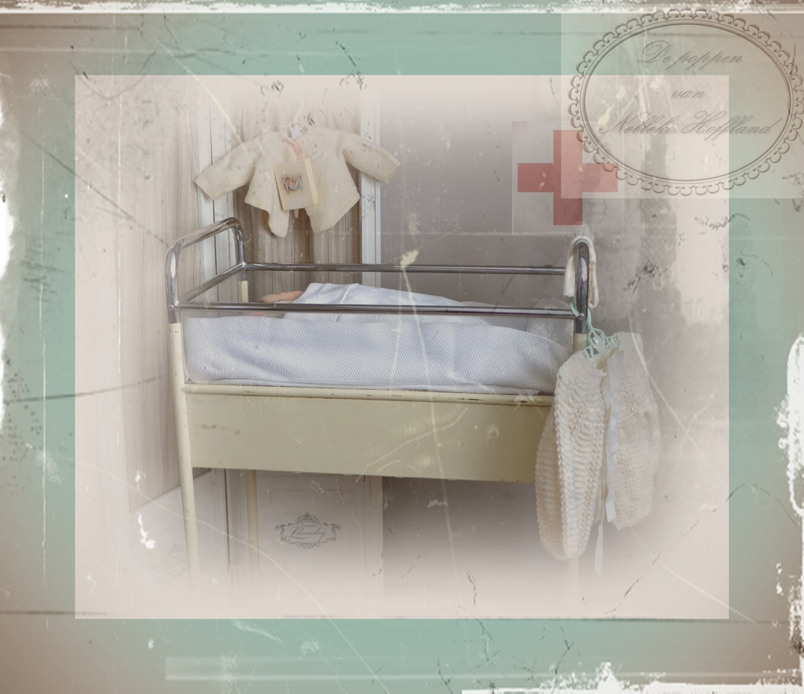 antiek ziekenhuisbedje