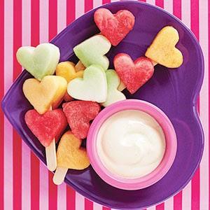 dia dos namorados - salada de frutas coração