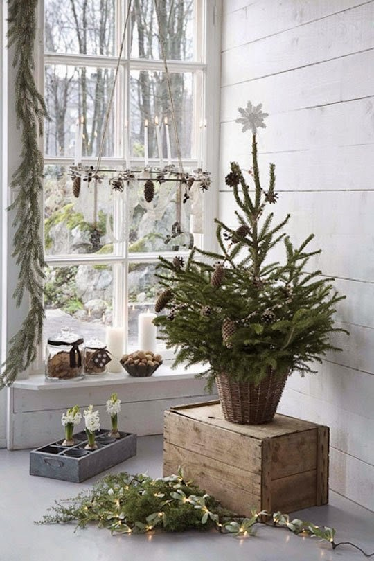 tiny Christmas trees for entryways, small spaces