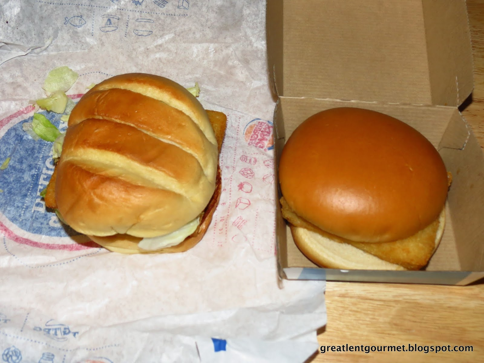 Mcdonalds filet o fish vs burger king bk big fish autos post for Burger king big fish