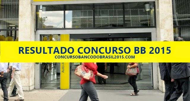 resultado do concurso do banco do brasil 2015