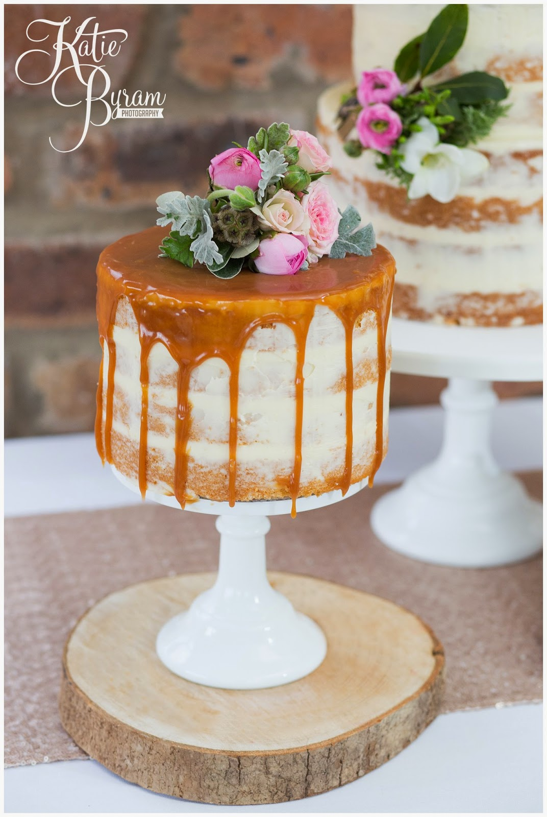 salted caramel wedding cake, the master cakesmith, dawn cake maker, newton hall, ellingham hall, alnwick garden, northumberland wedding cake, northumberland wedding, katie byram photography