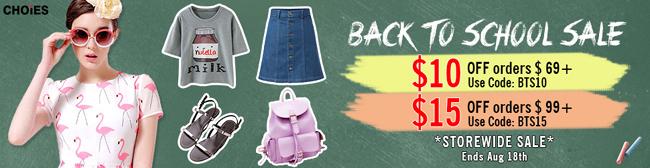 CHOIES BACK TO SCHOOL SALE