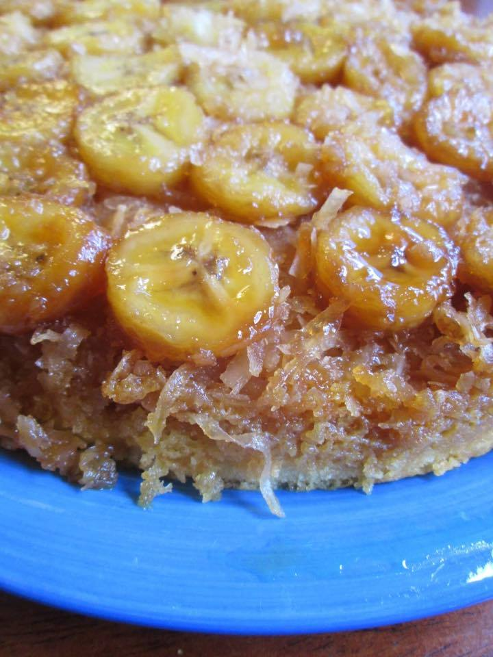 Banana Coconut Upside Down Cake ~ good recipes