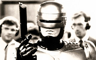 Robocop Movie Grayscale HD Desktop Wallpaper