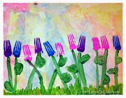 Fork Flowers Closeup