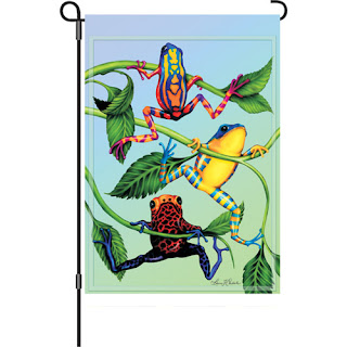 Hanging Tree Frog Garden Flag
