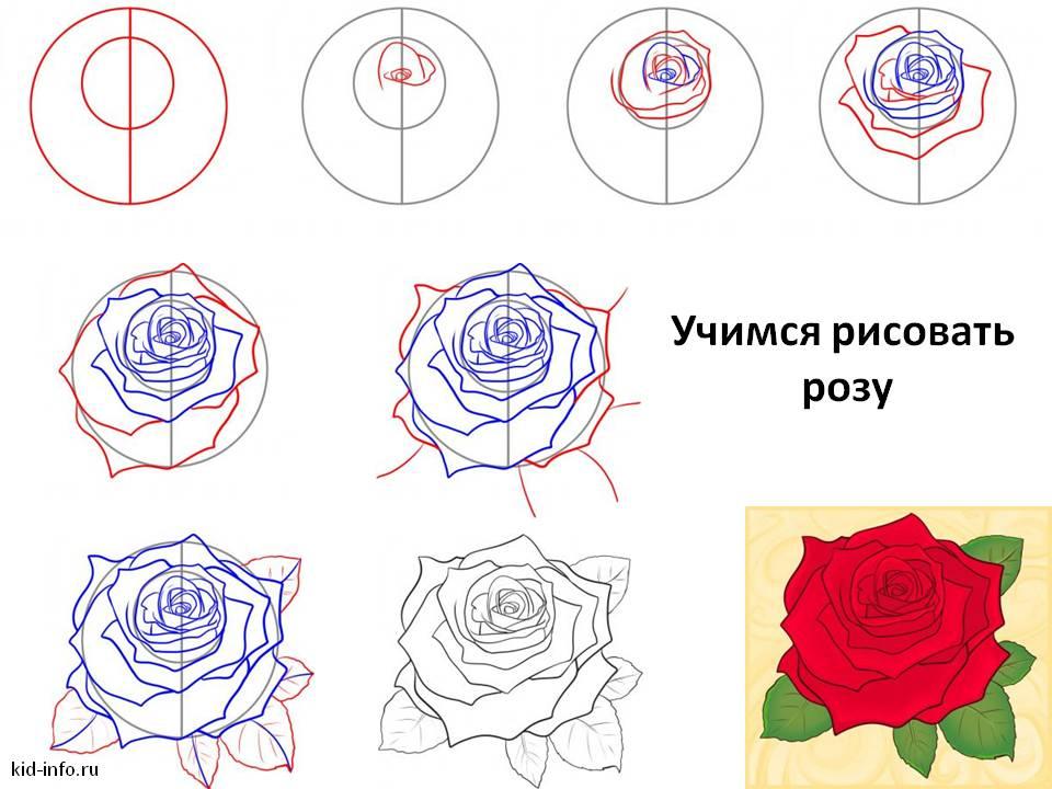 Как сделать розы на открытку