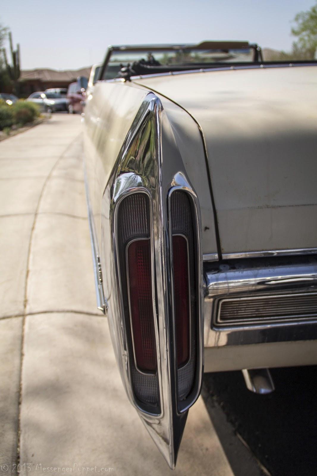 1966 Cadillac de Ville convertible tailfin