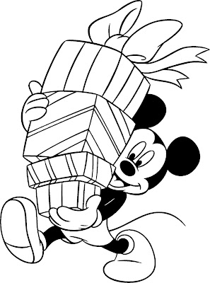 Coloring Pages Christmas Disney