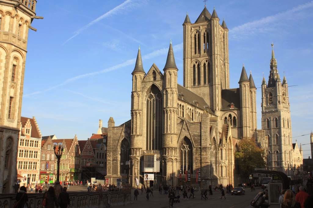 Sint Niklaaskerk and Belfort tower in Ghent