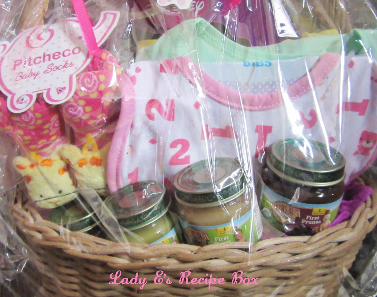 baby dedication gift basket ~ lady e's recipe box