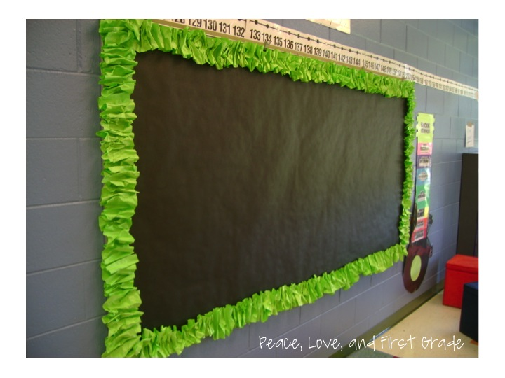 Classroom Border Design ~ Scrunchy border tutorial peace love and first grade