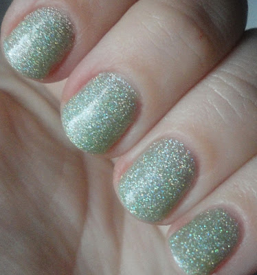 kleancolor holo green nail polish swatch