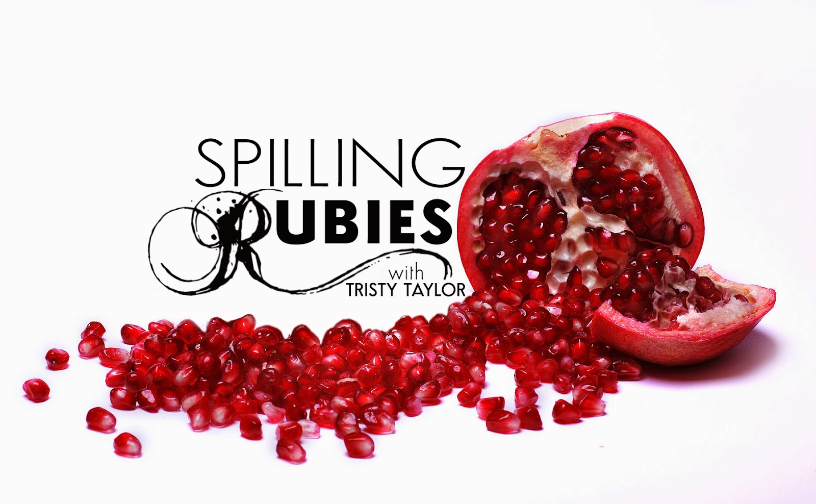 a rich, open pomegranate spills its rubies for you