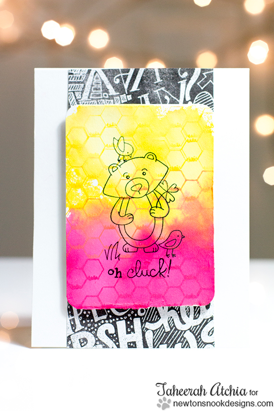 oh Cluck Chicken card by Taheerah Atchia for Newton's Nook Designs | Chicken Scratches Stamp