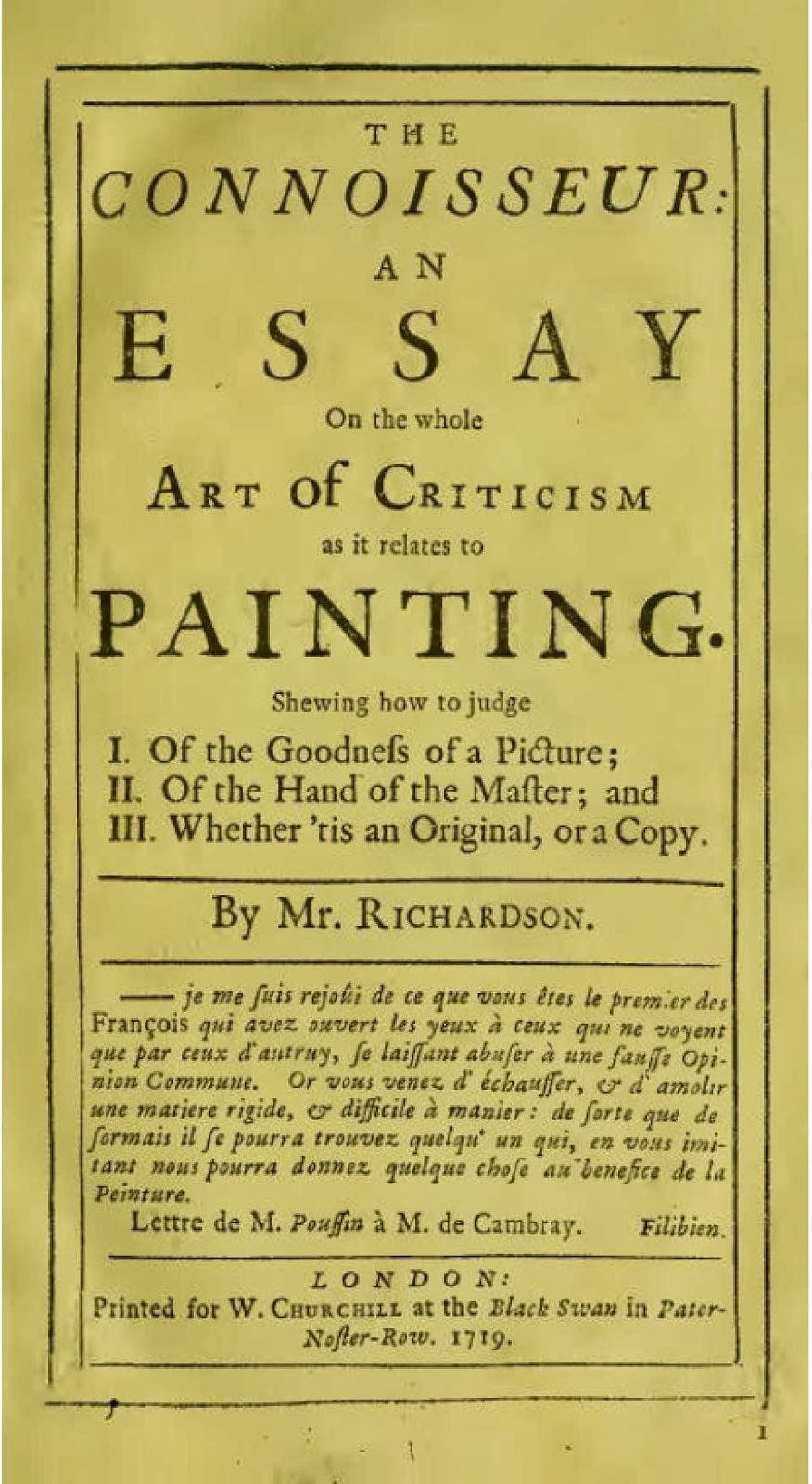 jonathan richardson an essay on the theory of painting