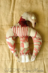 Antique French Textile Eagle Ornament