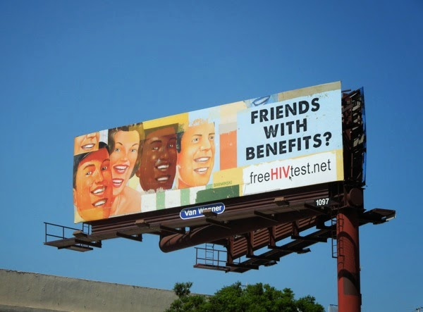 Friends with benefits HIV test billboard
