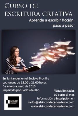 Curso de escritura creativa en Santander, de Carlos del Río