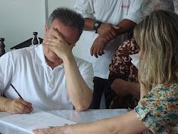 Médium Orlando Carneiro psicografando em Palhoça SC