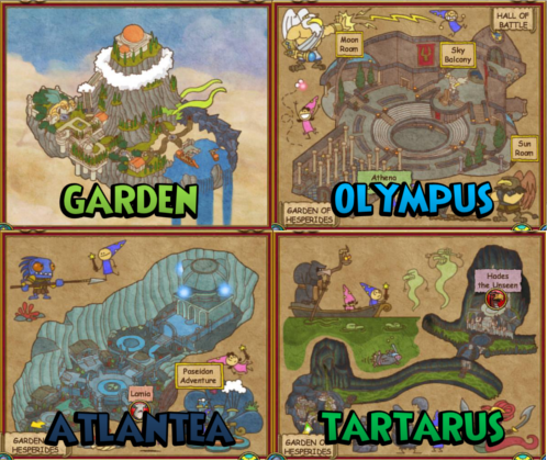 Wizard101 Aquila Maps