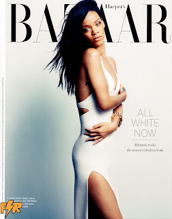 Rihanna posing for Harper's Bazaar August 2012 Issue
