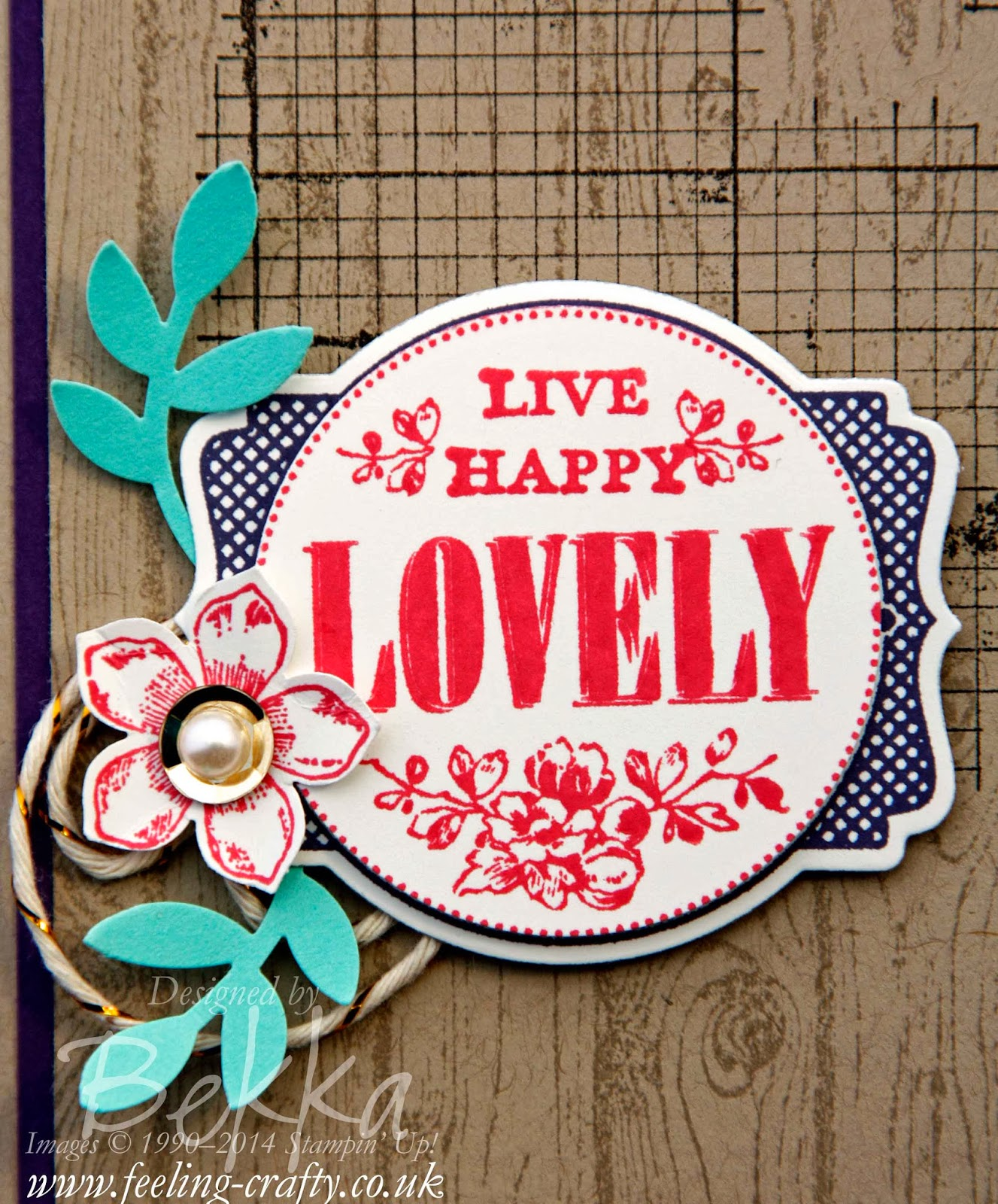 Live Happy Card - Find out how she changed the words on this image here
