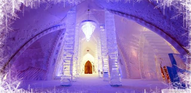 Hotel de Glace - pasillo de hielo