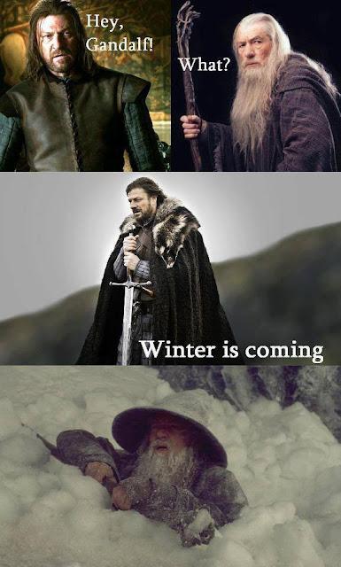 Eddard Stark trolleando a Gandalf