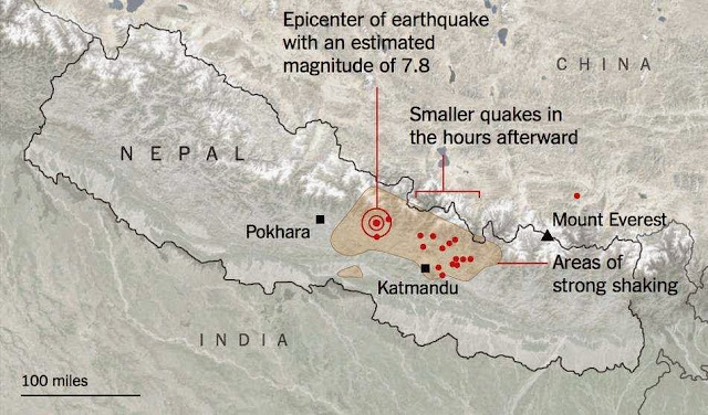 Big map of Earthquake in Nepal