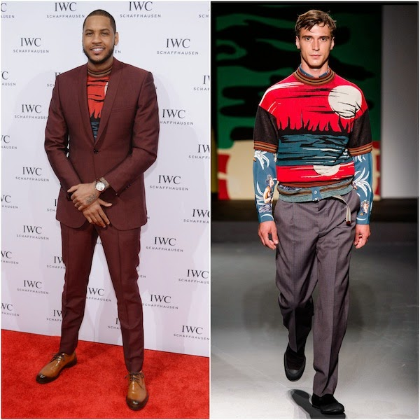 Carmelo Anthony in Prada - IWC Schaffhausen And Tribeca Film Festival Host 'For the Love of Cinema' Private Dinner