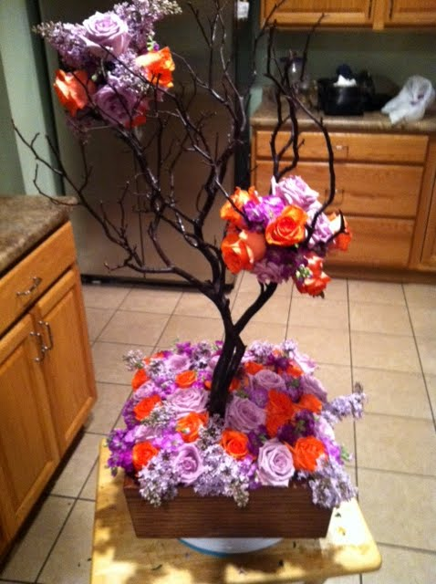 Fall Manzanita centerpiece