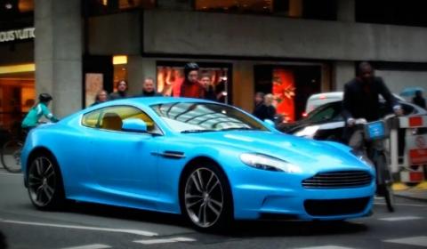 VIDEO: Baby Blue Arab Aston Martin DBS in London   Carsfresh