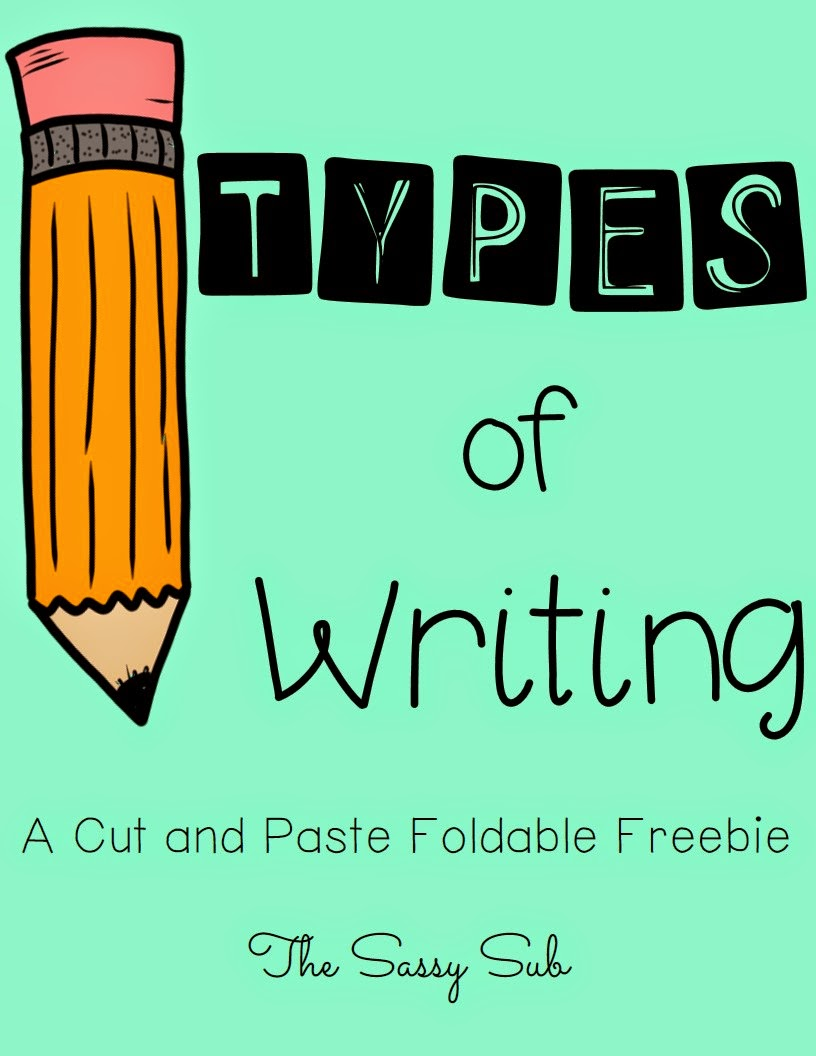 http://www.teacherspayteachers.com/Product/Types-of-Writing-A-cut-and-paste-foldable-freebie-1338682