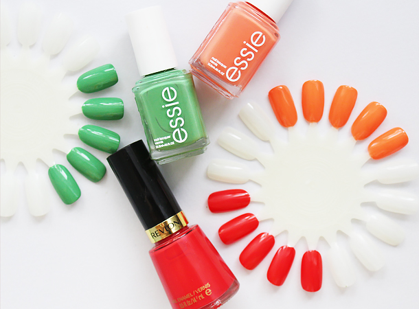 spring nail floral ombre gradient designs nail polish trends walgreens essie revlon mojito madness serial shopper