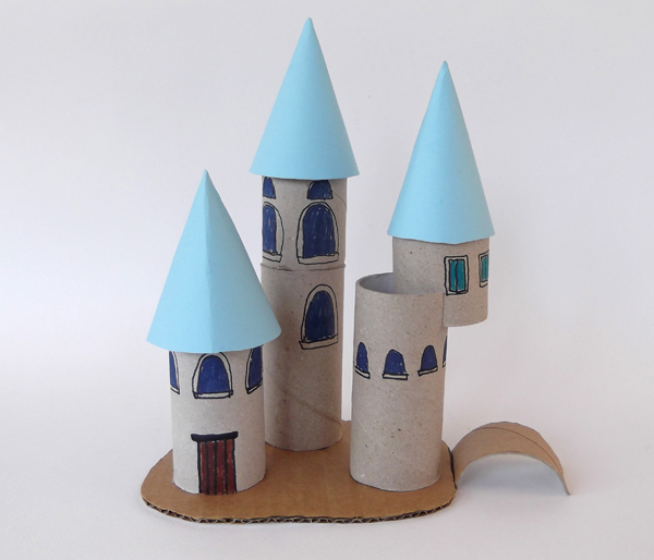 castle, paper castle, cardboard castle, toilet paper roll crafts, architecture crafts, architecture for kids, architecture activities for kids