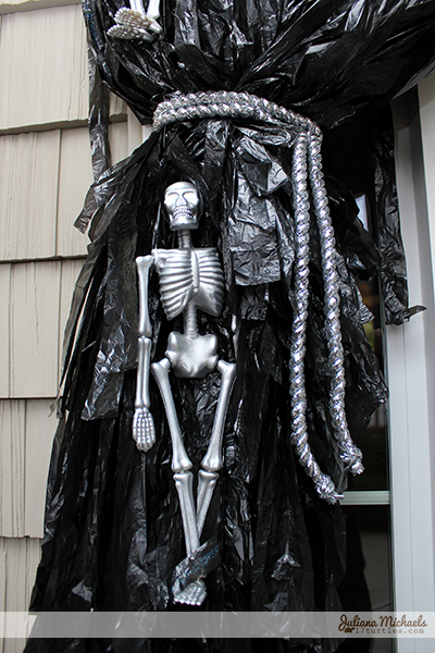 Dollar Tree Halloween Door Decor Skeleton by Juliana Michaels