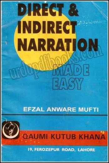direct indirect narration urdu pdf