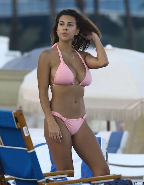 Devin Brugman Bikini Candids on the Beach in Miami
