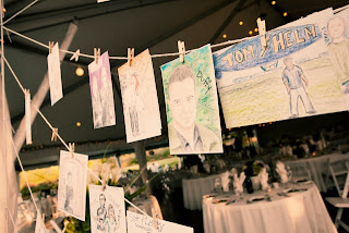 Hand painted table cards created by Carrie and Tyson for their wedding at Sanders Estate