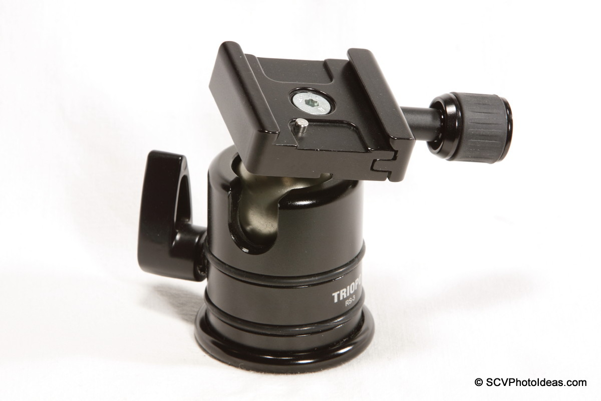 Triopo B-2 QR Clamp on Triopo RS-3 ballhead