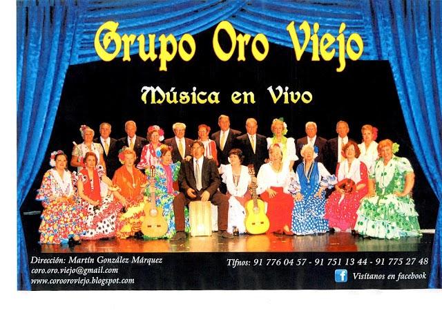 Oro Viejo, coro rociero viernes 24 19:00 Madroño, Vicálvaro
