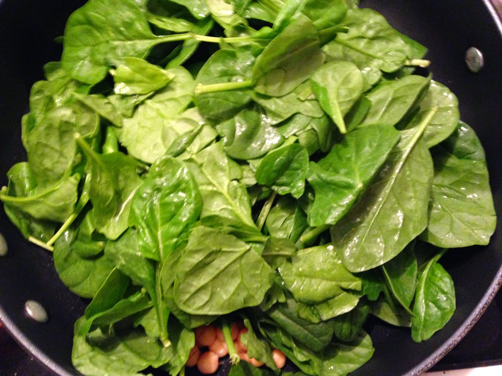 Frugal Allergy Mom: Sauteed Spinach and Chickpeas Recipe ...