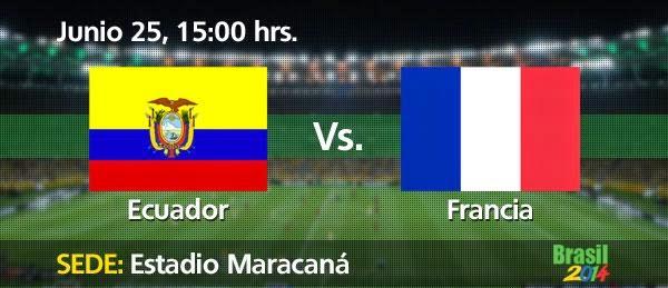 Partido Ecuador vs Francia