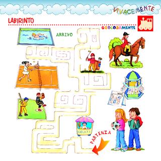 Vivacemente con il cuore e con la mente labirinto percorso illustrato per bambini - Bambini in piscina a 3 anni ...