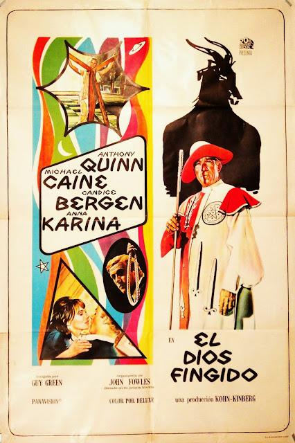 """Afiche de la versión española del """"The Magus"""", titulada """"El Dios Fingido"""""""