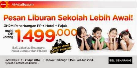 Promo Travel | Airline terbaru di AIR ASIA [ Berlaku 09 Apr 2014 s/d 21 Apr 2014 ]