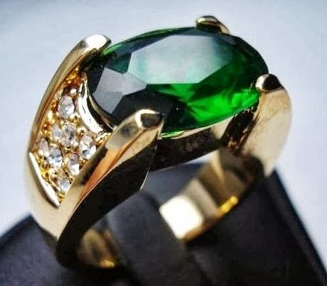 engagement ring emerald gents silver and gold engagement