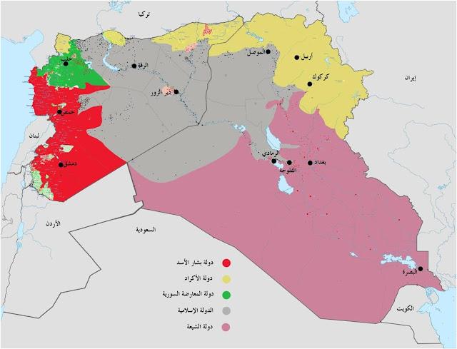 خريطة سوريا و العراق لو تم تقسيمهما
